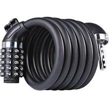 Candado de seguridad para bicicletas, candado antirrobo de 5 dígitos con Cable de acero en espiral