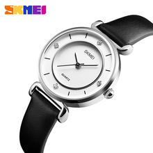цена на SKMEI Fashion Women Watches Casual Dress Ladies Wristwatches Leather Strap Waterproof Luxurious Quartz Watch 1330