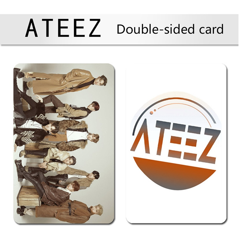 100Pcs/Box KPOP ATEEZ Album The Collection HD Photo Cards Self Made Double Side High Definition Picture LOMO Card Photocard