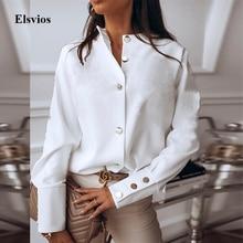 Spring Autumn O Neck White Blouse Shirts Elegant Office Lady