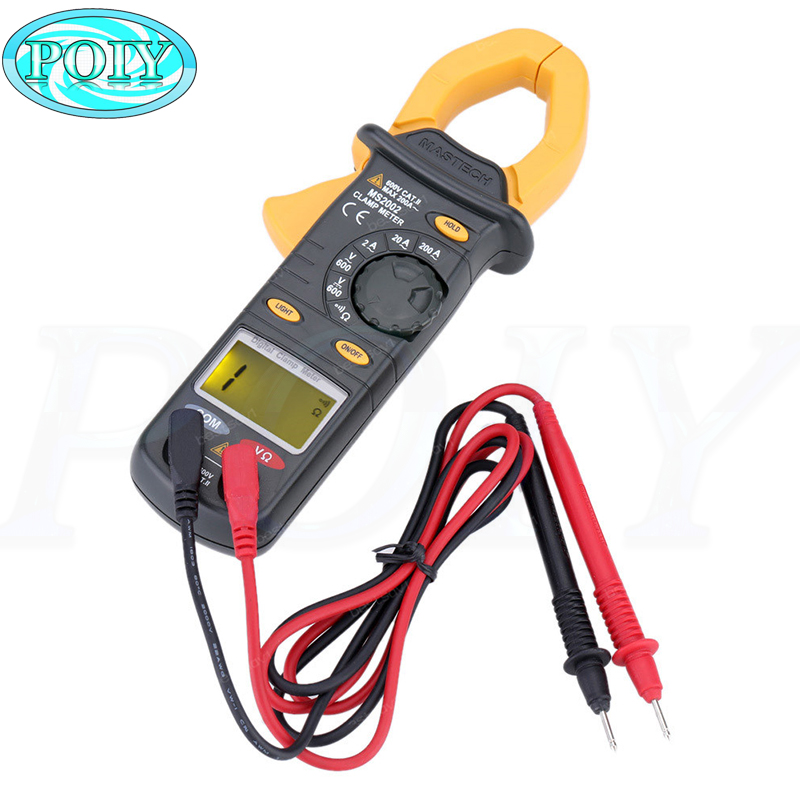 Ac/dc Digital Clamp Multimeter Measure Current Voltage Resistance Electronic Tester Meter Mastech Ms2002 Reliable Performance