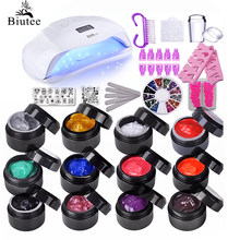 Biutee Manicure Poly Stempel Gel Nail Kits Voor 72 W 56 W 36W Uv Led Nagel Lamp Acryl polish Stamping Plates Nail Art Gereedschap Set(China)