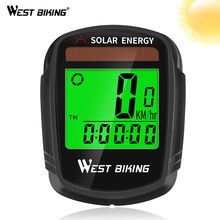 WEST BIKING Bike Computer Speedometer Odometer Multifunctional Cycling Rainproof Solar Power Bicycle Wireless