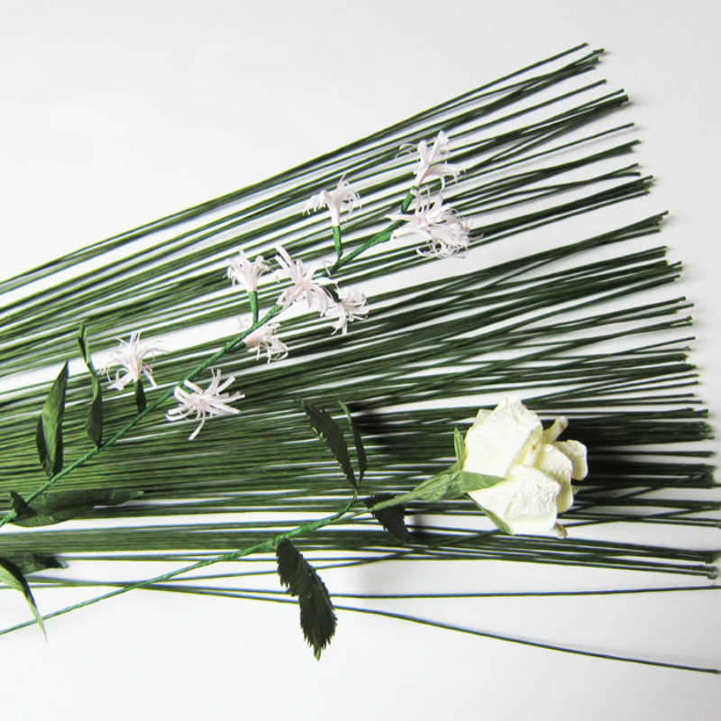 Paper-Covered Flower-Accessory Twigs-Iron-Wire Artificial-Branches High-Quality -0.45mm title=