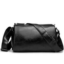 New men's casual shoulder bag pu soft leather cross-body bag fashion large capacity shoulder bag business cross-body bag