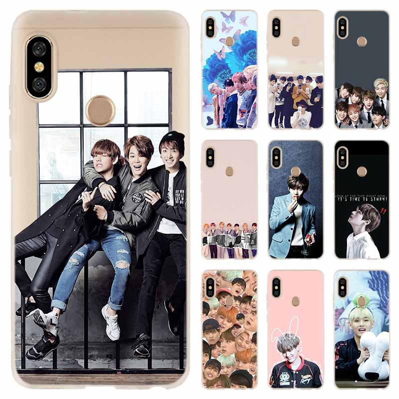 Soft TPU Case Cover For Coque Xiaomi Redmi 4X 4A 6A 7a Y3 K20 5 Plus Note 8 7 6 5 Pro Bangtan Boys Jimin Suga