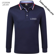лучшая цена Custom embroidery business long sleeve polo shirt,embroidery long sleeve polo Shirt Uniform Workwear custom