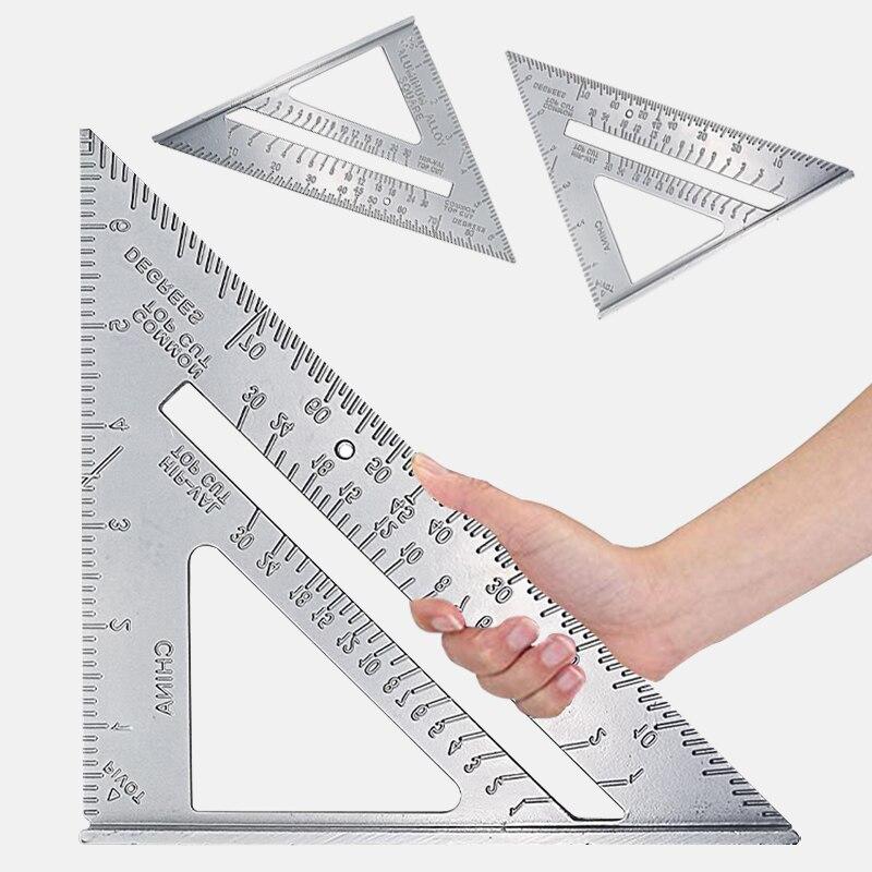 Triangle Square Ruler Measurement Tool  Aluminum Alloy Speed Protractor Miter For Carpenter Tri-square Line Scriber Saw Guide