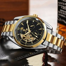 TEVISE Men Watch Tourbillon Automatic Leather Strap Watches Luxury Moon Phase Mechanical Waterproof Watch Hollow Out Dial New