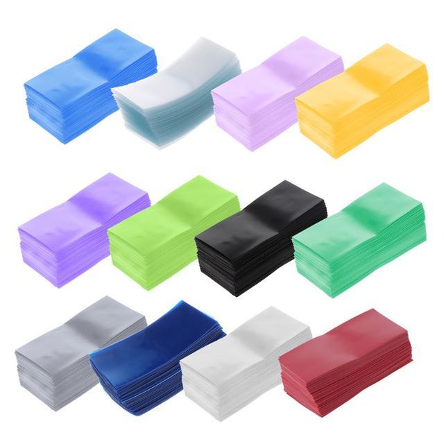 100 pièces/sac 18650 Lithium batterie Encapsulation Tube PVC thermorétractable gaine enveloppe batterie couverture peau isolation Film