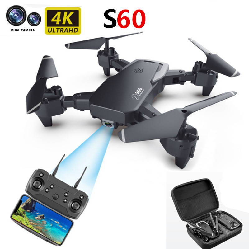 S60 Drone RC Quadcopter HD 4K Dual Camera WiFi FPV Drones Height Keep Helicopter Kids Toys Children Gift image