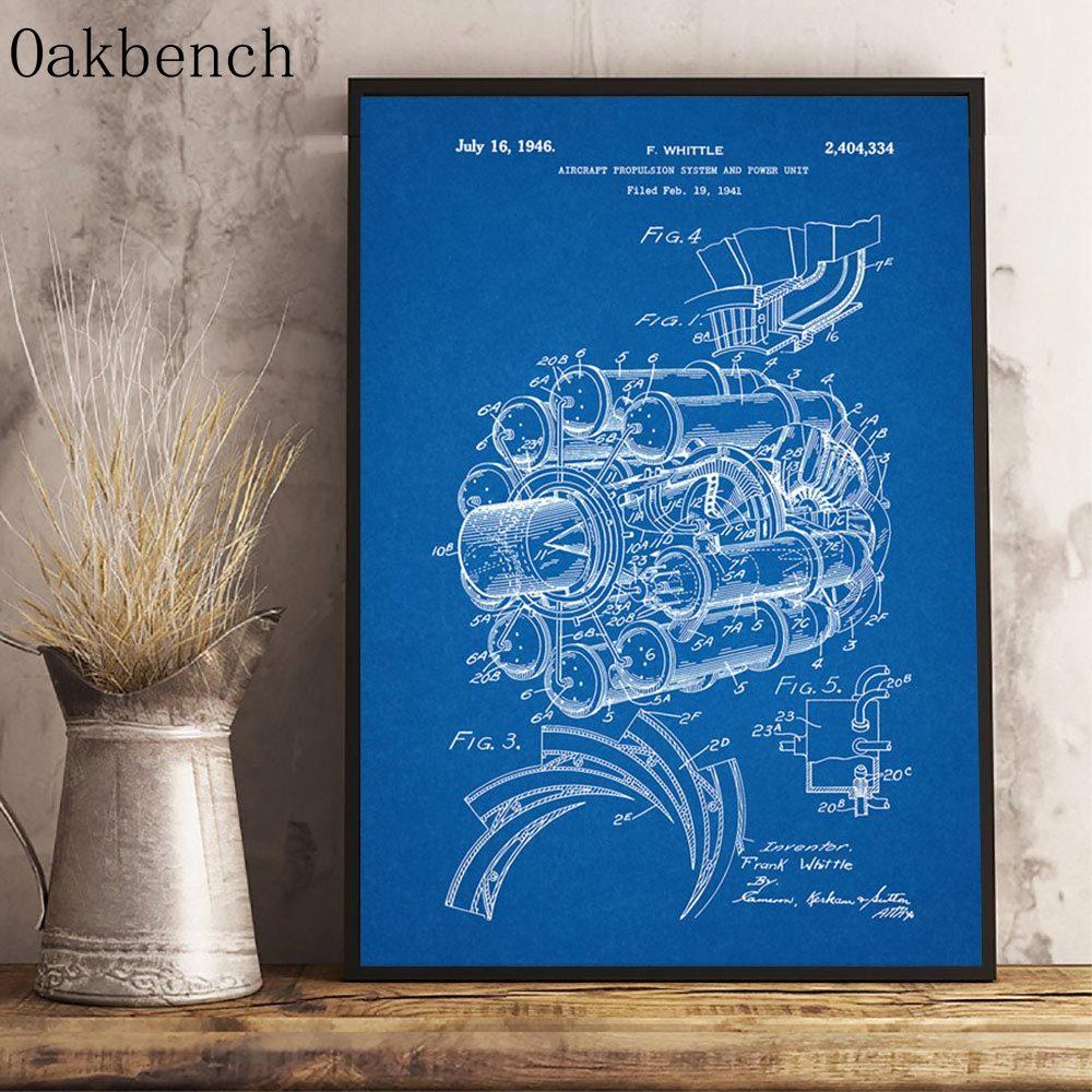 Nacnic Poster Patent Scaler 2 Drucken Camion mit altem Design-Patent in A3-Format mit blauem Hintergrund