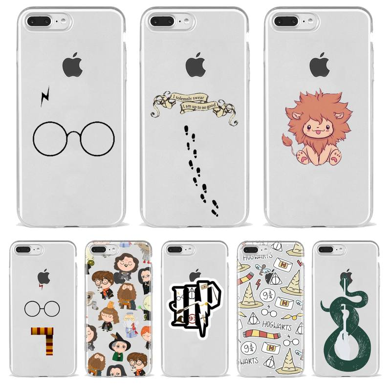 Harries Potter Slytherin Cartoon Phone Case For Iphone 11 12 7 8 Pro Mini XS Max Xr X PLU Cover Fitted Transparent Coque|Phone Case & Covers| - AliExpress