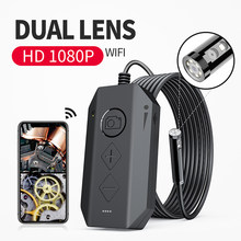 Draadloze Dual Endoscoop Camera Wifi 8Mm 1080P Hd Borescope Inspectie Camera Voor Iphone Android 2MP Snake Camera Voor inspecteren(China)
