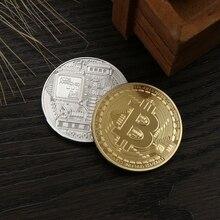 1 шт. Коллекционная монета Биткоин позолоченная бронза физическая монета Casascius BTC Новогодний подарок без валюты диаметр 40 мм