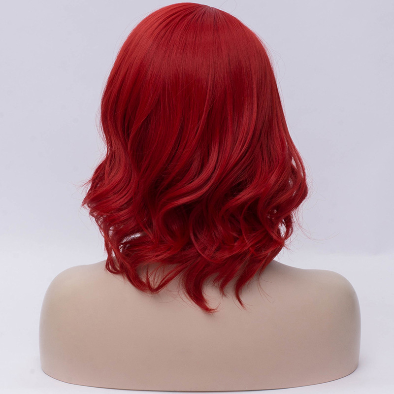 Image 2 - VICWIG Synthetic Red Wigs for Women Short Curly Purple Cosplay Wig White Grey BlondeSynthetic None-Lace  Wigs   -