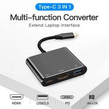 Compatible con HDMI USB 3,0 USB-C convertidor cuidado computadora USB tipo C a 4K suministros de oficina para Nintendo interruptor teléfono portátil