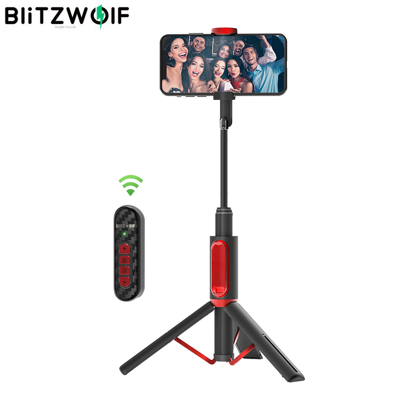 BlitzWolf BW-BS10 Pro All-in-one Bluetooth Upgrade Remote Control Selfie Stick Portable Retractable Tripod For IPhone For Huawei