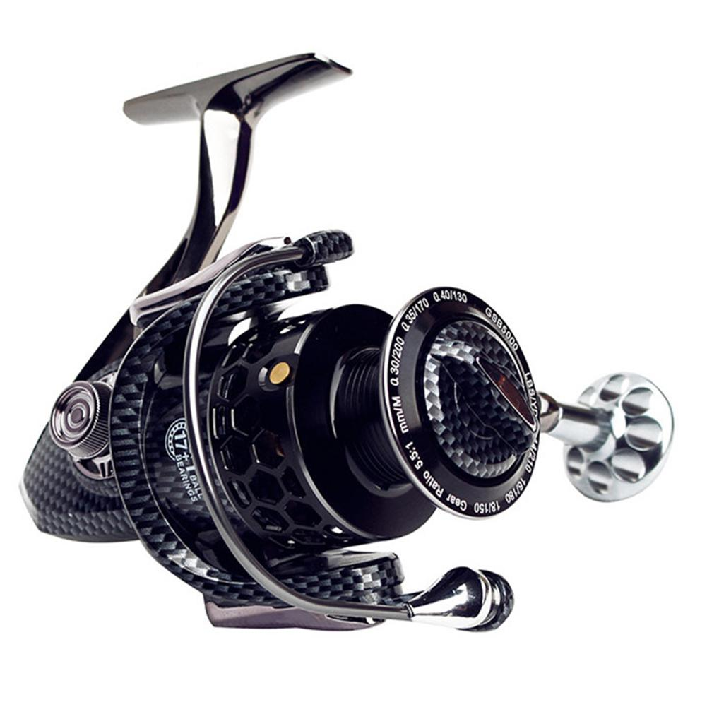 2019 New Full Metal Spinning Fishing Reel With Large Spool Aluminum Body Saltwater