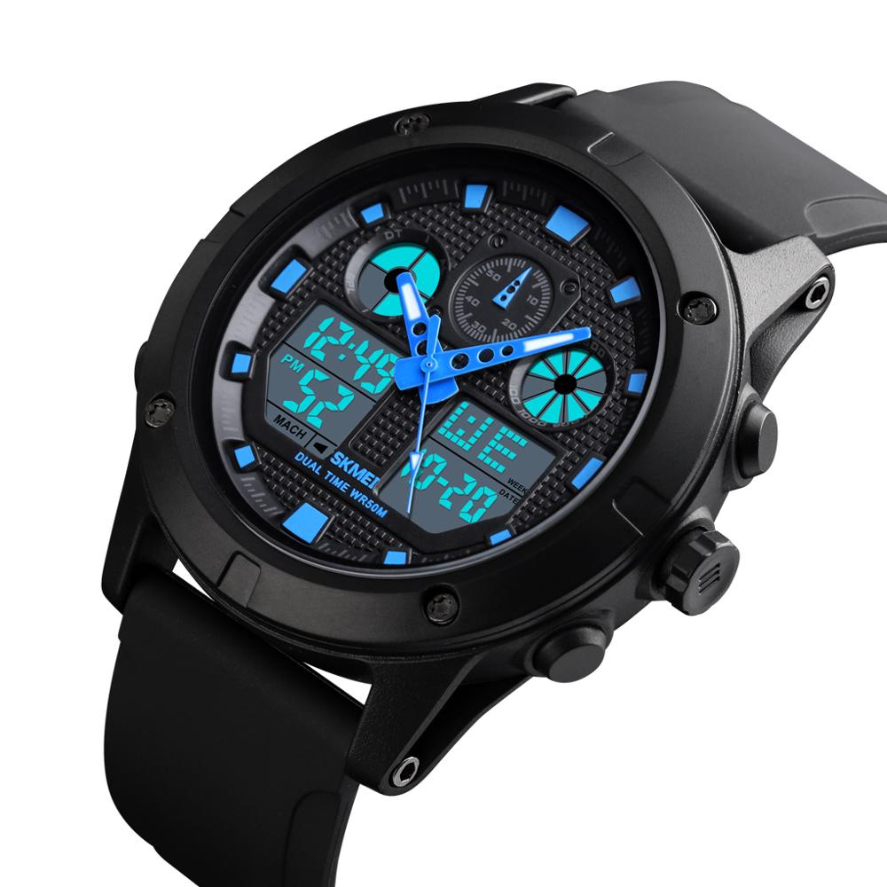 <font><b>SKMEI</b></font> Outdoor Sport Watch Men Digial Watches Double Time Military 5Bar Waterproof Luminous Week Display Wristwatch <font><b>1514</b></font> image