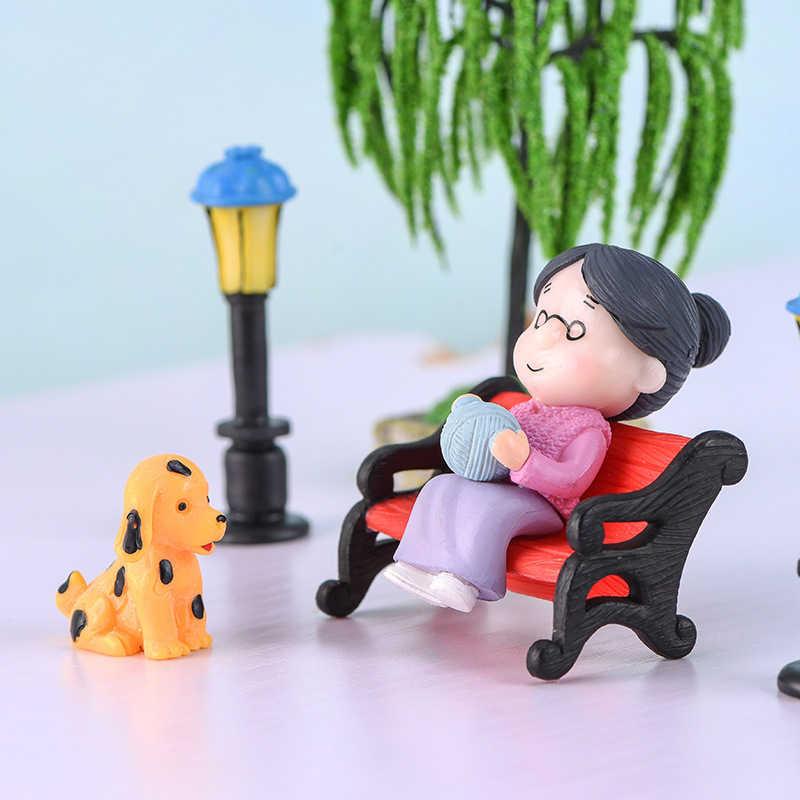Mini Couple Figures Miniature Figurines Fairy Garden Ornament Micro Landscape