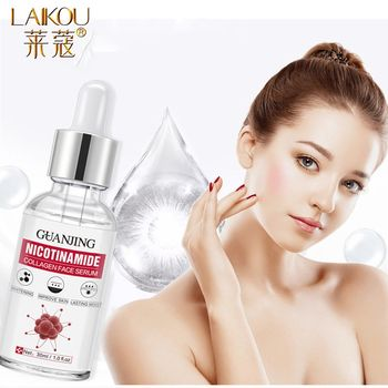 LAIKOU Nicotinamide Stock Solution Facial Serum Whitening Essence Moisturizing Shrink Pores Brightening Face Serum Skin Care недорого