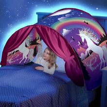 Dream Tents - Hot Kids Pop Up Bed Tent, Dream Tents Christmas Gift for Kids + 20pcs Star LED String Lights # цена и фото