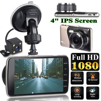 4 Inch LCD Screen 170 Degree Dash Cam Dual Lens HD 1080P Camera Car DVR Vehicle Video Recorder G-Sensor Parking Monitor