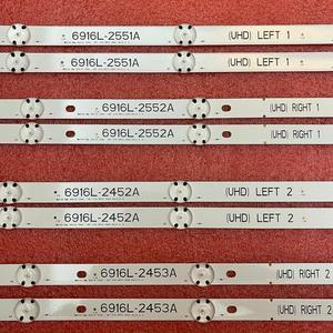 Image 3 - Светодиодная лента для подсветки для LG 49UH6500 49UH650V 49UH661V 49UH668V LC490DGG FJ M6 M5 6916L 2452A 2453A 6916L 2551A 2552A