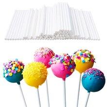 Горячая Распродажа, 5 упаковок, всего 100 шт., длина 10 см, поп палочки, шоколадный торт, печенье, леденец, леденец, форма для изготовления конфет