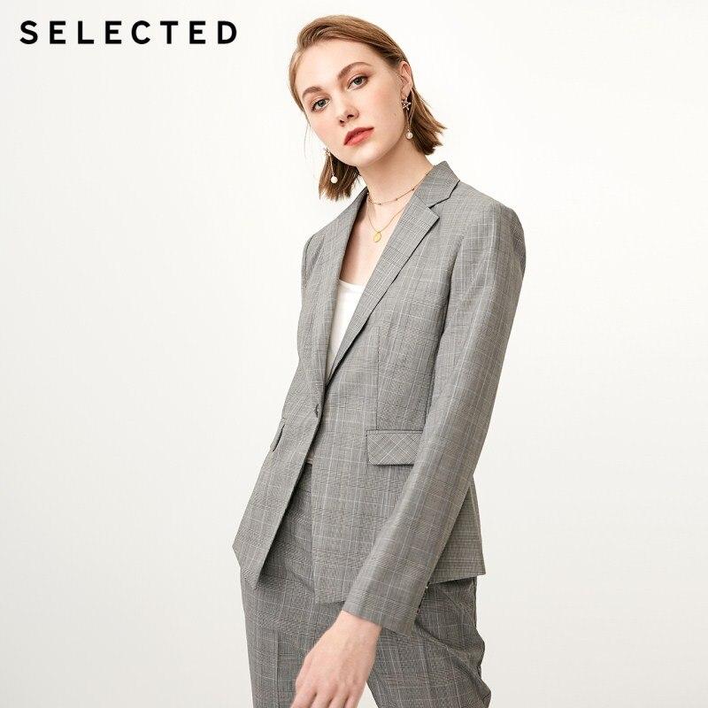 Selected 여성 모직 체크 무늬 정장 재킷 sig  418372506-에서블레이저부터 여성 의류 의  그룹 1