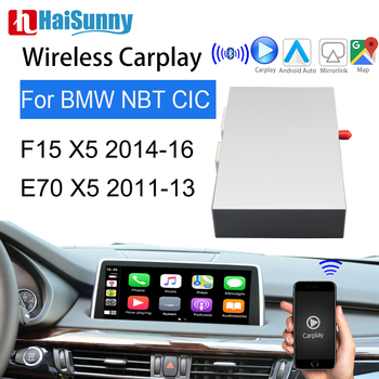 Wireless Carplay Decoder Support Android Auto Multimedia Reverse Camera Adapter For BMW CIC NBT 2011-2013-2016 X5 F15 E70 image
