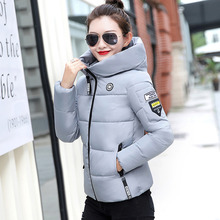 New Women Cotton-padded Jacket Winter 2019 Fashion Casual Hooded Thick Warm Short Down-cotton Coat Lightweight Outerwear Female стоимость