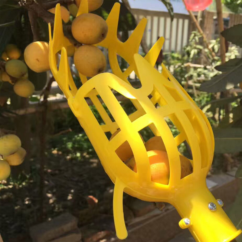 Plastic Small Garden Fruit Picker Fruit Catcher Collector Head Without Pole Practical for Cherry Orchard Gardening Picking Tool