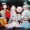 New BJD 16CM Doll 13 Movable Joints Fashion Princess Clothes Suit Accessories Nude Decoration Multicolor Hair Gift Toy for Girl