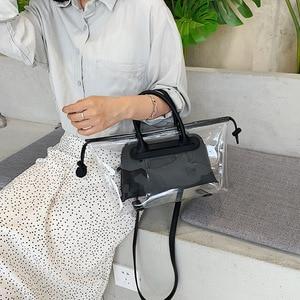 Image 2 - JIULIN חדש ג לי שקוף bag2019 חדש קיץ טרי יד כף כנף תיק קוריאני חד כתף אלכסוני תיק גדול תיק