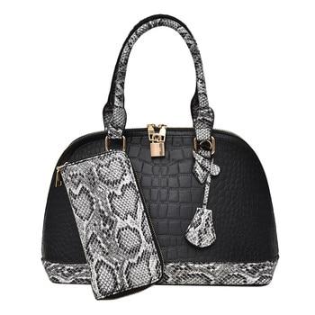 Women's Fashion Versatile Handbag Wallet Large Handbag Shoulder Bag Handbag Large Capacity Letter And Lock Decoration May 9
