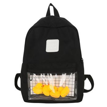 Harajuku jasne płótno kobiety plecaki szkolne torby dla nastoletnich dziewcząt kobiet wysokiej jakości podróży kaczki plecak plecak tanie i dobre opinie MUQGEW NYLON Backpack WOMEN Miękka Poniżej 20 litr Wnętrze slot kieszeń Kieszeń na telefon komórkowy Wnętrza przedziału