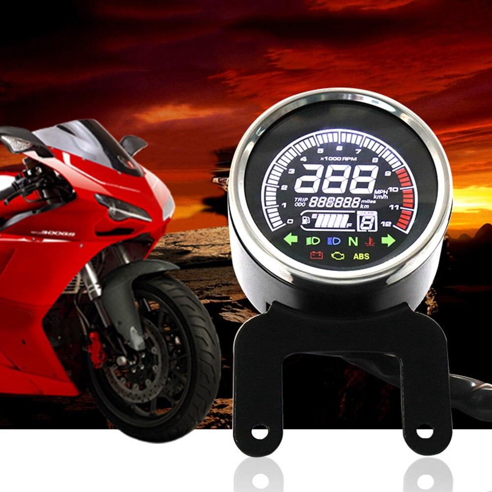 60 KM/H Moto LCD Numérique Tachymètre Compteur Jauge Ensemble