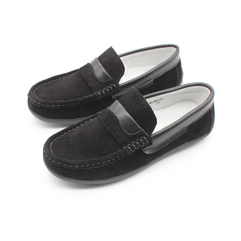 New Boys Kids Genuine Leather Shoes Boys Moccasins Driving Slip On Loafers Boat Deck Casual Boys Penny Loafer Shoes