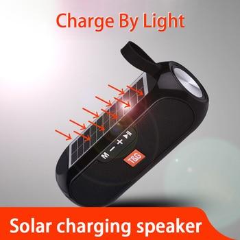 цена на Solar Power Waterproof Bluetooth Speaker Outdoor Rechargeable Wireless Speakers Portable Soundbar Subwoofer Loudspeaker TF MP3