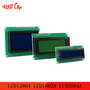 ЖК-модуль 1602 1602A J204A 2004A 12864 12864B T, модуль ЖК-дисплея, сине-желто-зеленый экран, IIC I2C 3,3 В/5 В для Arduino