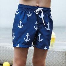 New Model Kid Boys Beach Shorts 2-14 Y Baby Boy Swimwear Children Trunks Child Bathing Suit with Blue Anchors Pattern