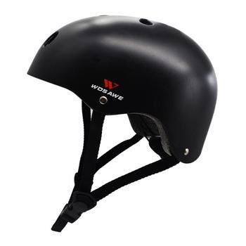 Шлем для скейтборда для разных видов спорта, скейтбординга, ударопрочность и вентиляция, черный, несколько размеров