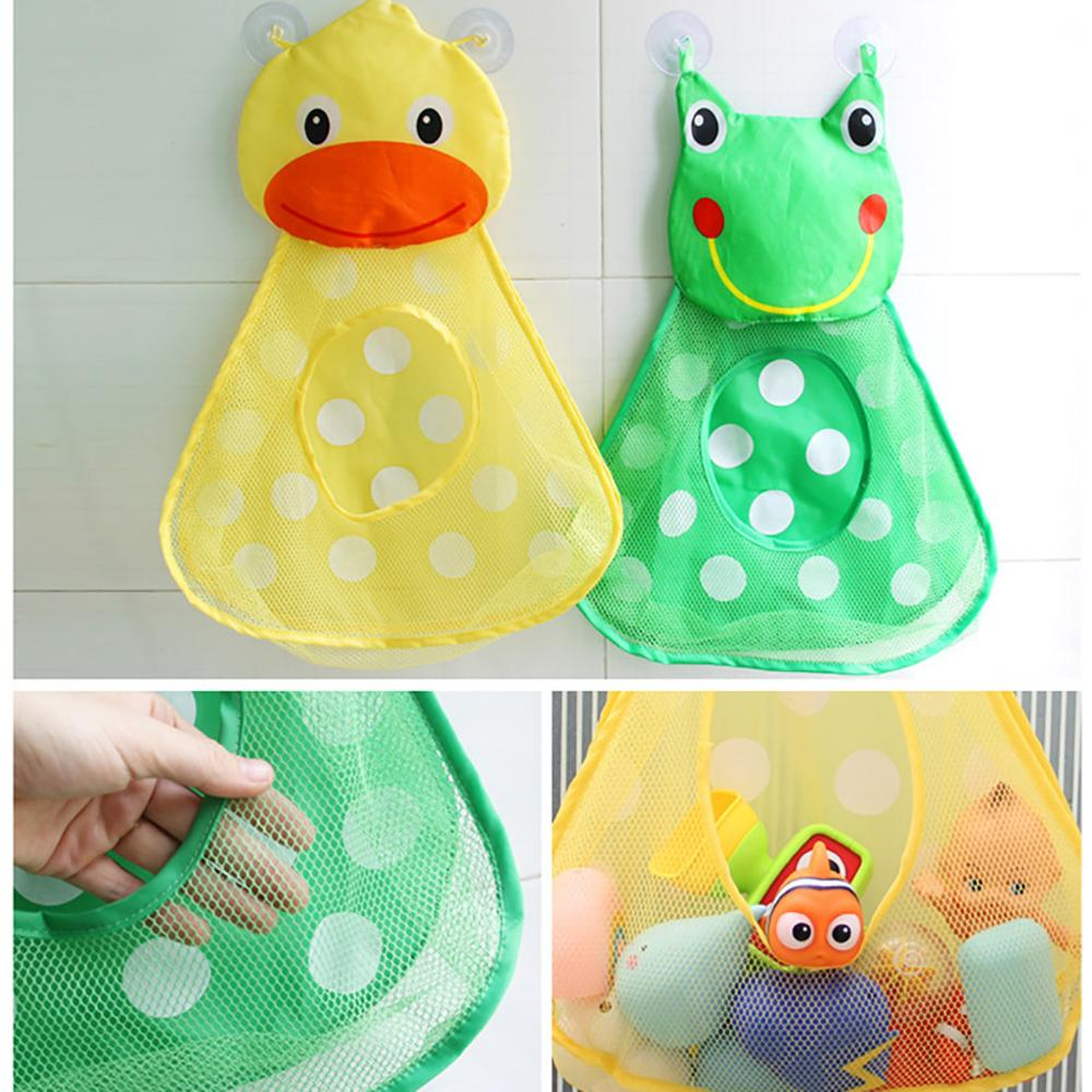 Baby Bathtub Toy Mesh Duck Frog Storage Bag Holder Bathroom Organiser Kids Favor