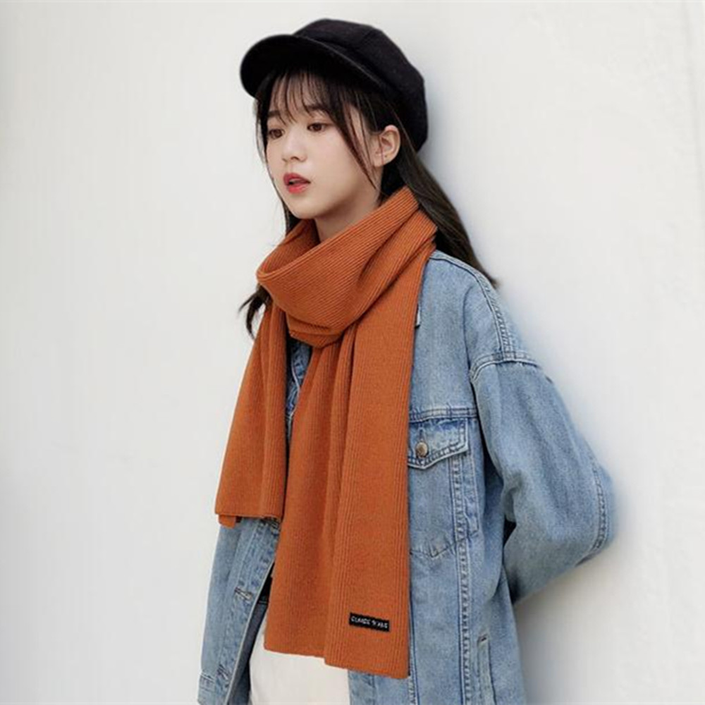 F105 Dehaired Angora Core-Spun Yarn Solid Color Scarf Delicate High-Grade Versatile COUPLE'S Shawl Men And Women Great Handfeel