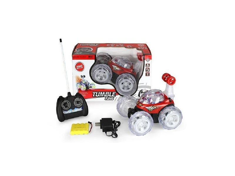 Stall Hot Selling Douyin Children Toys With Light And Sound Stone Remote Control Dump Truck Stunt Car Toy Car
