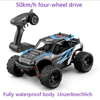 50km/h Quattro high speed RC car 1:12 4WD 2.4G Bigfoot Remote control Buggy Off Road Vehicle climbing Trucks kids toy Gift jeeps