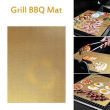 BBQ Grill Barbecue Mat Nonstick Grill Mat Heat Resistant Grill Sheet Perfect for Electric Oven Grill Barbecue #4O