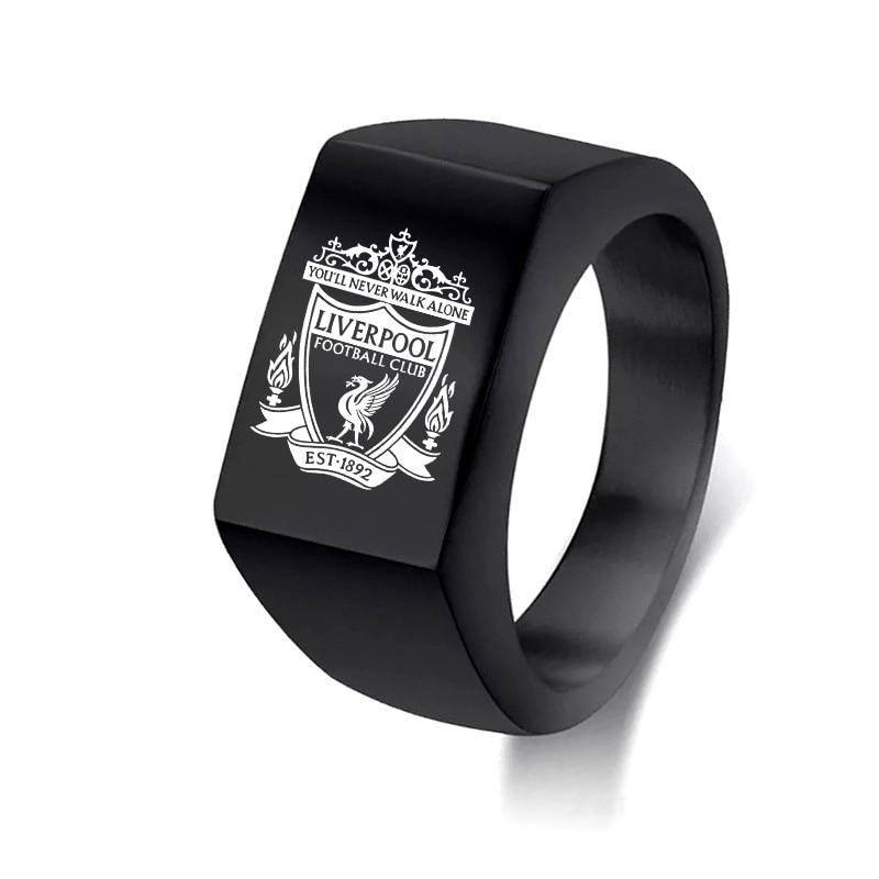 Liverpool-Football Club LOGO Ring Titanium Steel 12MM Fan Gift